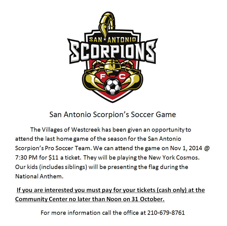 San Antonio Scorpions Tickets