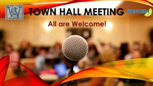 TOWN HALL MEETING @ VWOA Community Center Hall