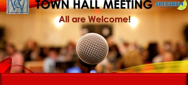 UPCOMING TOWN HALL MEETING – AUGUST 25th at @ 2 PM