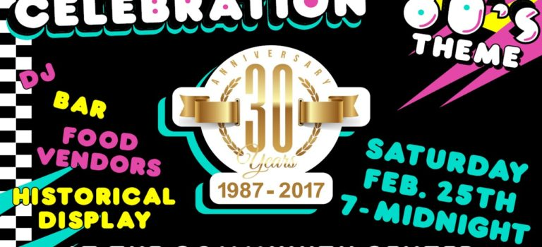 30th Anniversary Theme Party – February 25th @ 7:00 PM
