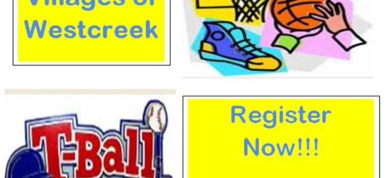 Registration for both T-Ball and Basketball has been extended to Oct. 6th, 2017