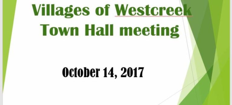 VWOA News On The Quick-Wrap Up From The Town Hall Meeting Held On 10-14-17