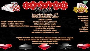 VWOA-Casino Night is here..... @ Casino Night