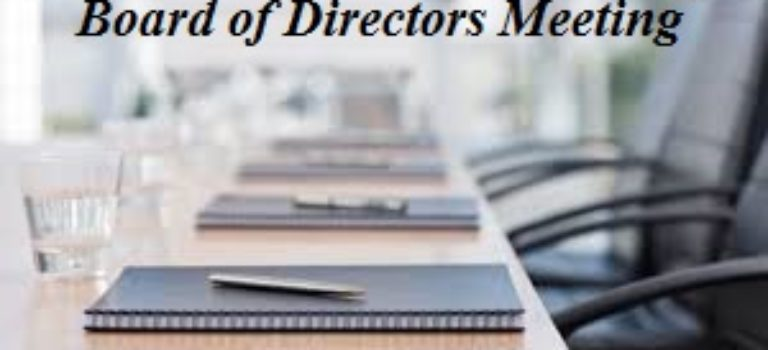 Board of Directors Official Meeting Notification – May 16, 2019
