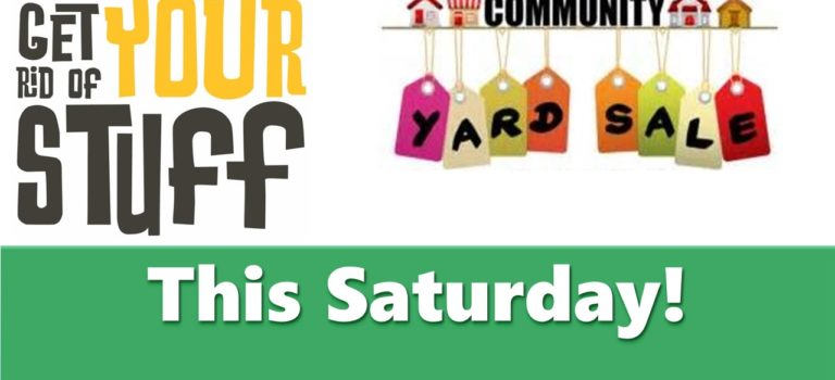 Community Yard Sale Listing – Saturday, November 9, 2019