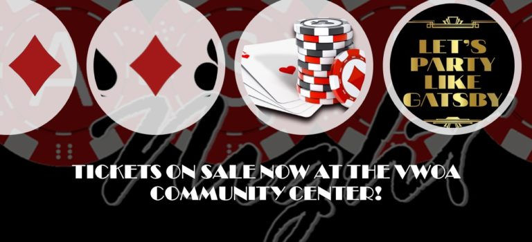 CASINO NIGHT – FRIDAY, AUGUST 17th at 7 PM
