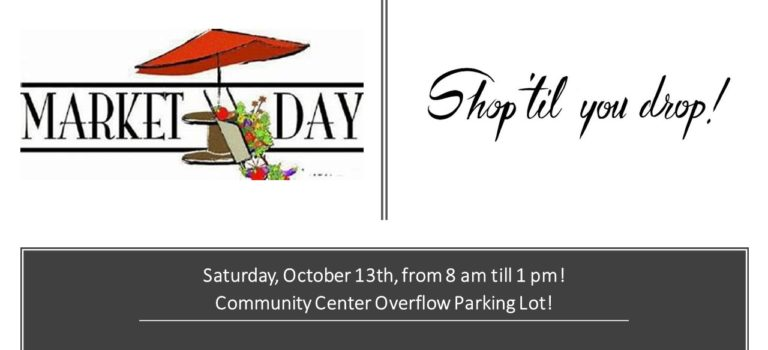 MARKET DAY THIS WEEKEND!