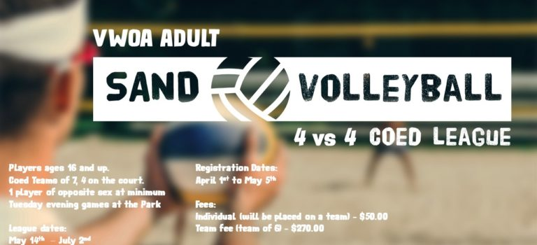 VWOA ADULT SAND VOLLEYBALL IS HERE!