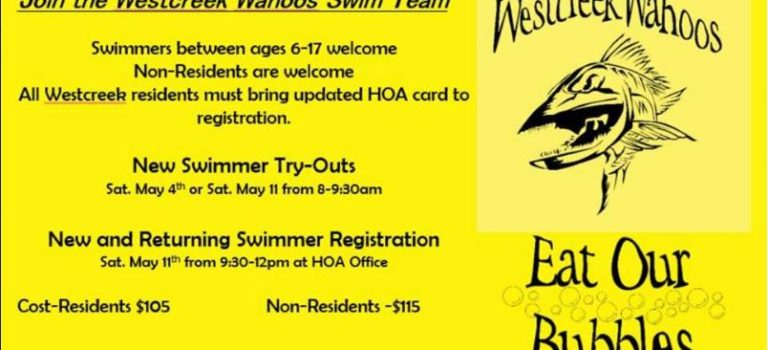 Westcreek Wahoo Swim Team Try-Outs and Registration!