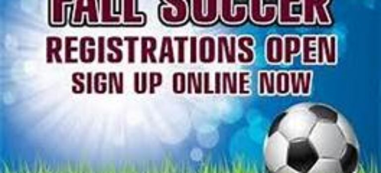 Fall Soccer Registration Now Open