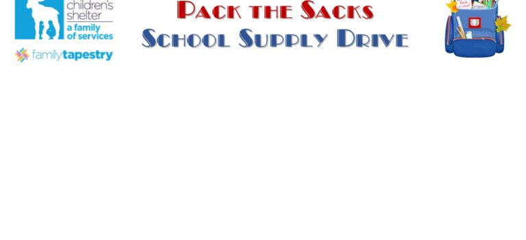 PACK THE SACK SCHOOL SUPPLY DRIVE!